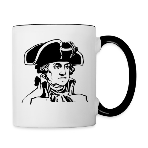 George Washington  - Contrast Coffee Mug
