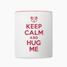 Keep calm and hug me Bottles & Mugs