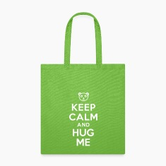 Keep calm and hug me Bags & backpacks