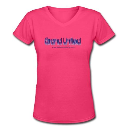 GU Gradient Women's V-Neck tee - Women's V-Neck T-Shirt