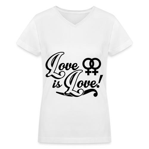 Lesbian's club - Women's V-Neck T-Shirt
