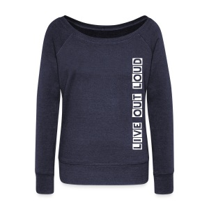 Wideneck LOL Sweater (Blue) - Women's Wideneck Sweatshirt