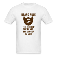 T-Shirts ~ Men's T-Shirt ~ Beard Rule #27