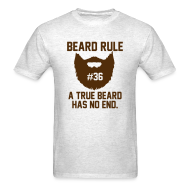 T-Shirts ~ Men's T-Shirt ~ Beard Rule #36
