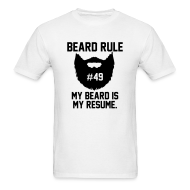 T-Shirts ~ Men's T-Shirt ~ Beard Rule #49
