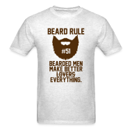 T-Shirts ~ Men's T-Shirt ~ Beard Rule #51