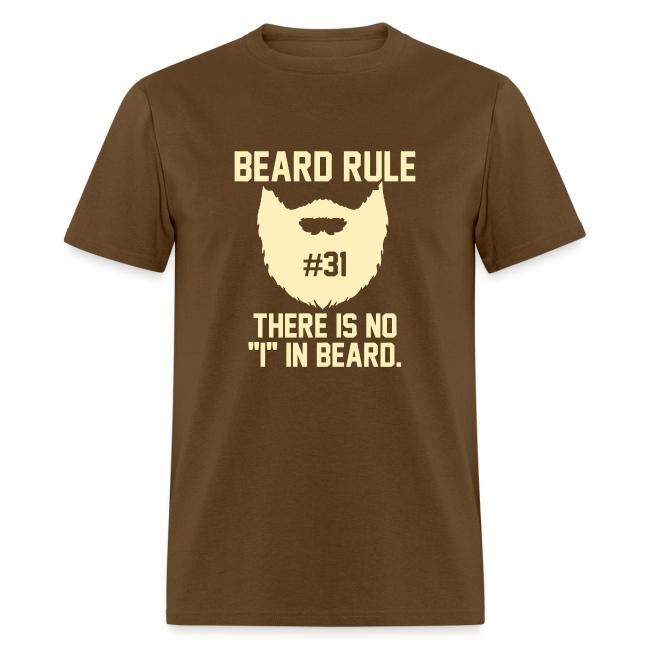 beard rules beard rule 31 mens t shirt