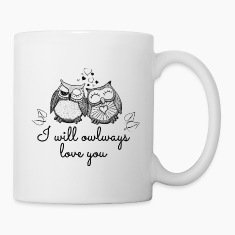 i will owlways love you owls Bottles & Mugs