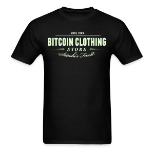 Bitcoin Clothing Black T Shirt - Men's T-Shirt