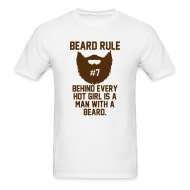 T-Shirts ~ Men's T-Shirt ~ Beard Rule #7