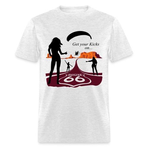Get Your Kicks. Grey - Men's T-Shirt