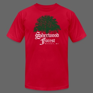 Sherwood Forest Detroit Michigan - Men's T-Shirt by American Apparel