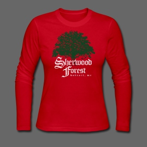 Sherwood Forest Detroit Michigan - Women's Long Sleeve Jersey T-Shirt
