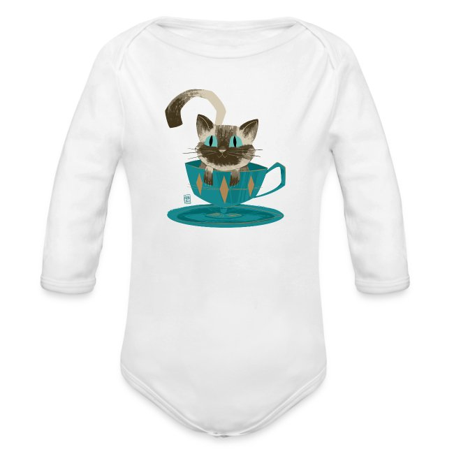 Cat in a Teacup Long Sleeve