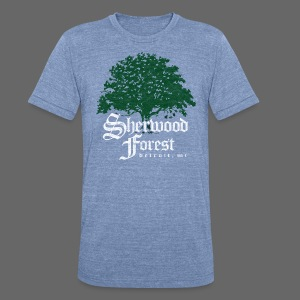 Sherwood Forest Detroit Michigan - Unisex Tri-Blend T-Shirt by American Apparel
