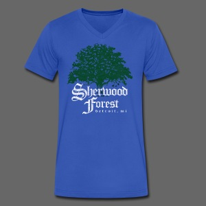 Sherwood Forest Detroit Michigan - Men's V-Neck T-Shirt by Canvas