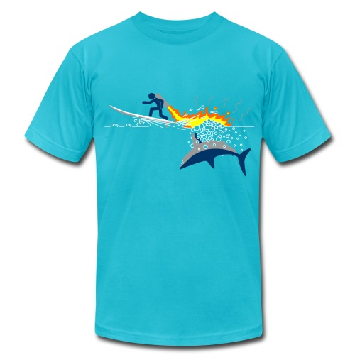 Jet-Pack VS Shark - Men's  Jersey T-Shirt