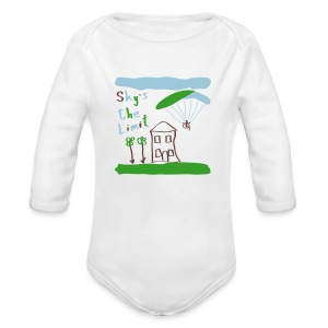 Sky`s the Limit Baby - Long Sleeve Baby Bodysuit