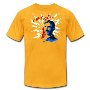 Nikola Tesla - Men's T-Shirt by American Apparel