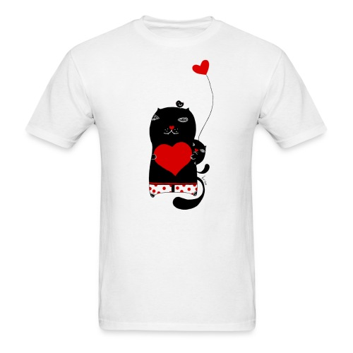 Cats with Hearts Classic Tee - Men's T-Shirt
