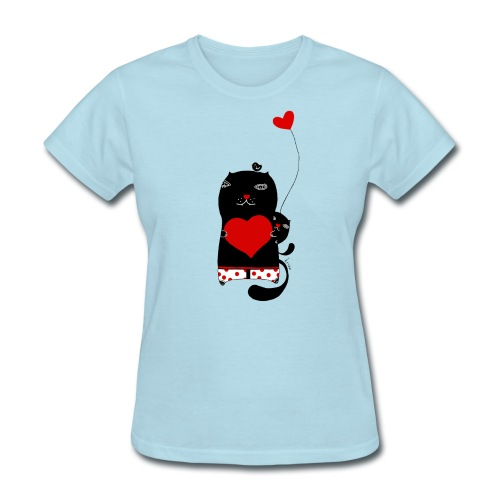 Cats with Hearts Classic Tee - Women's T-Shirt