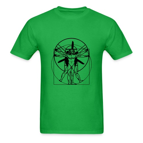 vitruvian PPG man- Green - Men's T-Shirt