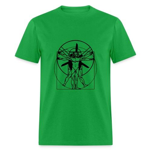 vitruvian PPG man- Green - Men's T-Shirt