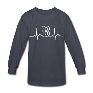 Boston Heart Beat - Kids' Long Sleeve T-Shirt