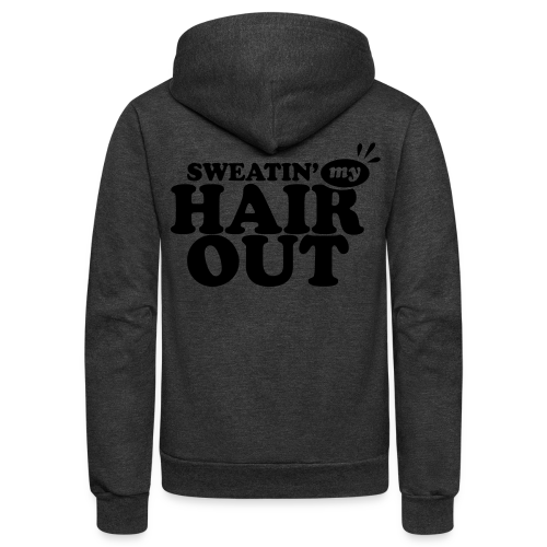 Sweatin' My Hair Out - Dark Type - Neon Hoodie - Unisex Fleece Zip Hoodie