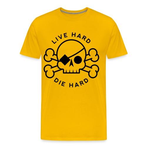 Live Hard Die Hard Skull & Bones Men's Premium T-Shirt - Men's Premium T-Shirt