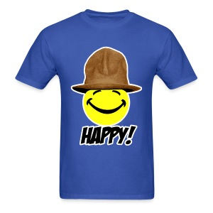 Happy in Pharrell Hat - Men's T-Shirt