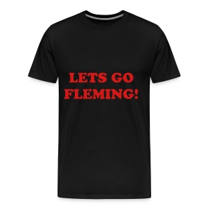 Plain Fleming Text Shirt - Men's Premium T-Shirt