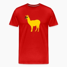 Funny llama with sunglasses and mustache T-Shirts