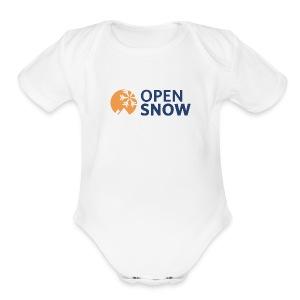 Baby White One Piece Short Sleeve - Short Sleeve Baby Bodysuit
