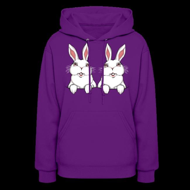 Women's Easter Hoodie Easter Bunny Women's Funny Bunny Sweatshirt
