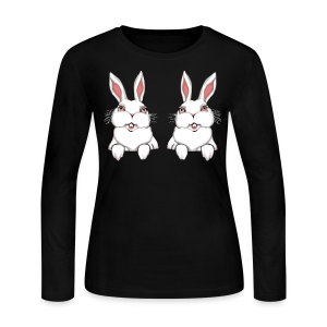 Women's Easter Shirt Easter Bunny Women's Funny Bunny Shirts - Women's Long Sleeve Jersey T-Shirt