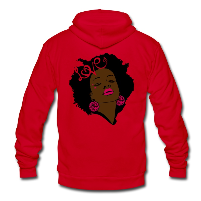 SN&LI! Neon Afro Fro - Unisex Fleece Zip Hoodie by American Apparel