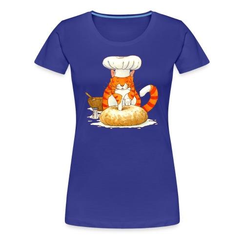 Chef Cat Fitted Tee - Women's Premium T-Shirt