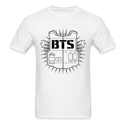BTS (White) - Men's T-Shirt