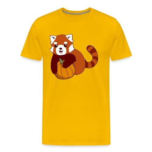 Red Panda Pumpkin - Men's Premium T-Shirt