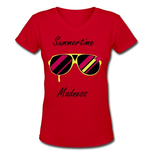Summertime Madness3 - Women's V-Neck T-Shirt