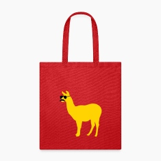 Funny llama with sunglasses and mustache Bags & backpacks