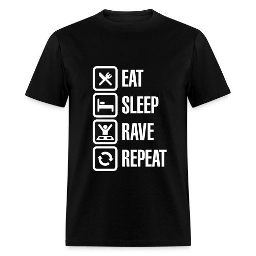 Eat sleep rave repeat T-shirt - Men's T-Shirt