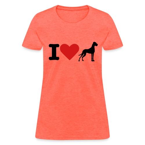 I Heart Danes - Women's T-Shirt