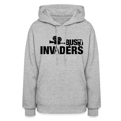 Bus Invaders Women's Hoodie - Black Design - Women's Hoodie