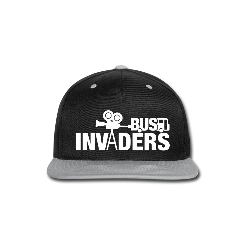 Bus Invaders Snapback Hat - Snap-back Baseball Cap