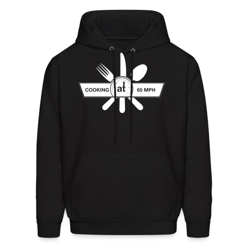 Cooking at 65mph Men's Hoodie - White Design - Men's Hoodie