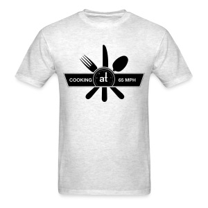 Cooking at 65mph Men's T-shirt - Black Design - Men's T-Shirt