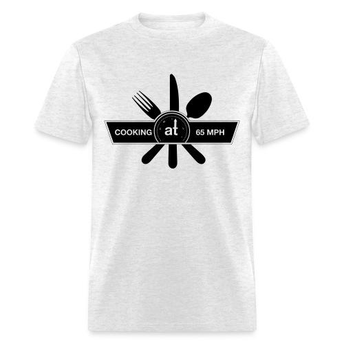 Cooking at 65mph Men's T-shirt - Black Design - Men's T-Shirt