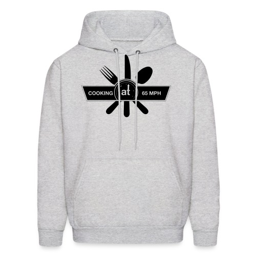 Cooking at 65mph Men's Hoodie - Black Design - Men's Hoodie